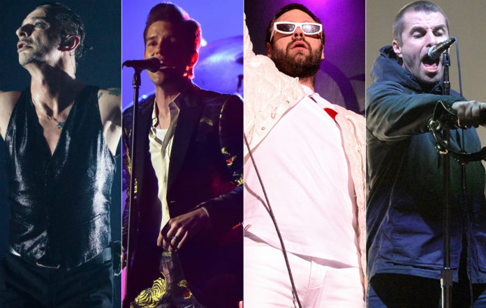 Dave Gahan, Brandon Flowers, Tom Meighan and Liam Gallagher
