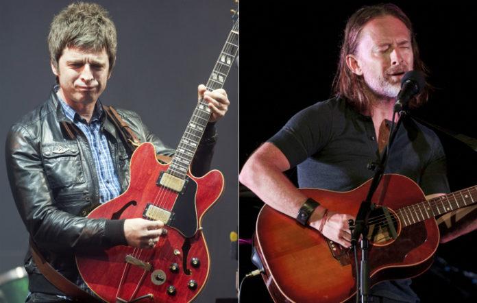 Noel Gallagher and Thom Yorke
