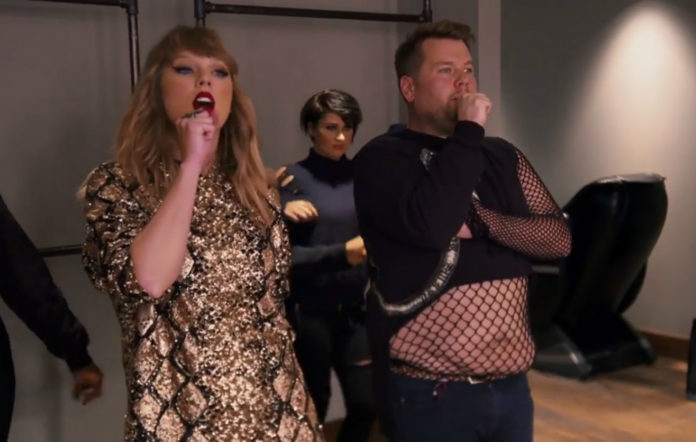 Taylor Swift and James Corden on The Late Late Show