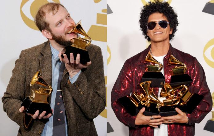 Bon Iver and Bruno Mars