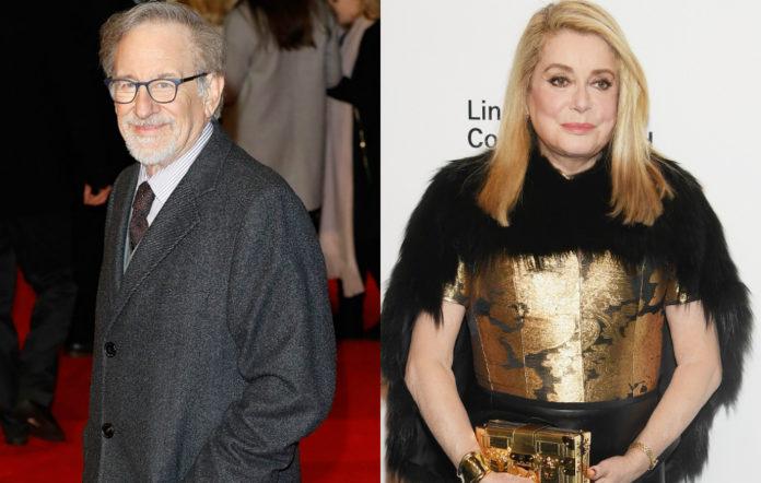 Steven Spielberg and Catherine Deneuve