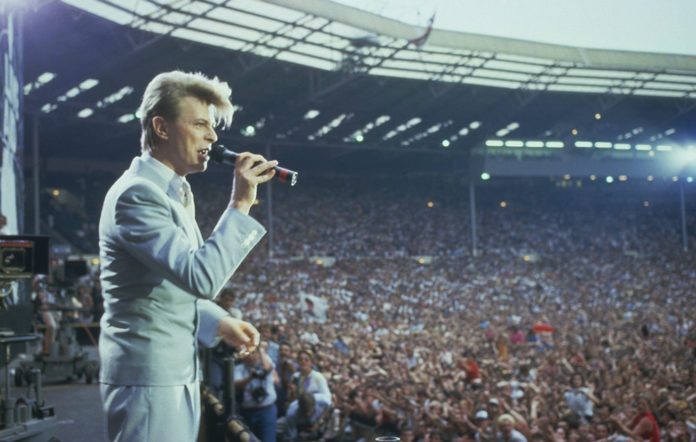 David Bowie at Live Aid, Wembley Stadium