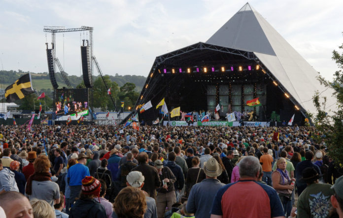 The crowd at Glastonbury