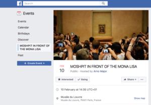 Mona Lisa mosh pit Facebook event page