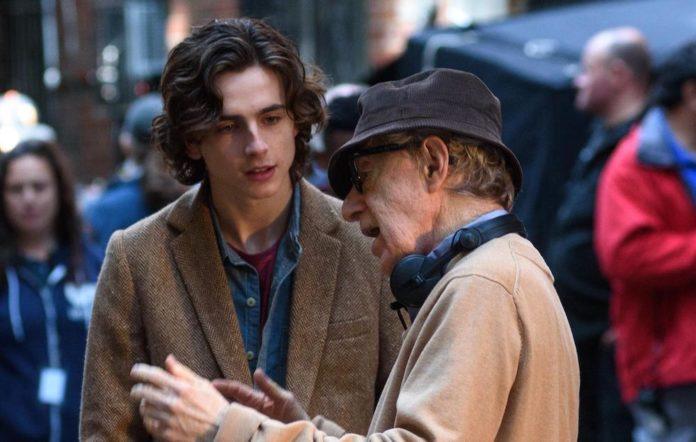 Timothée Chalamet and Woody Allen