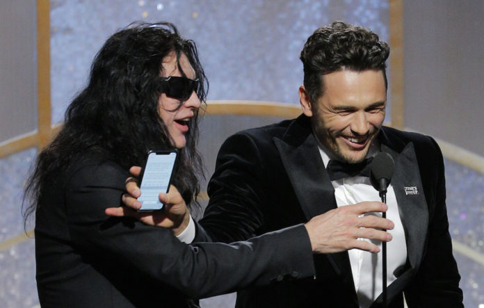 Tommy Wiseau and James Franco