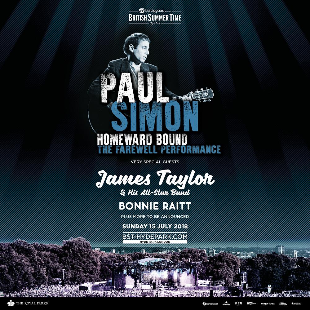 Paul Simon will be headlining British Summer Time 2018