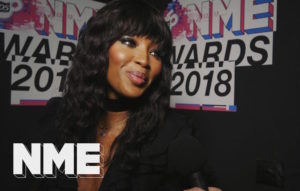Naomi Campbell backstage at the VO5 NME Awards 2018