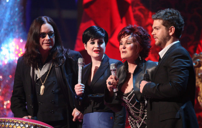 The Osbournes at the Brit Awards in 2008.