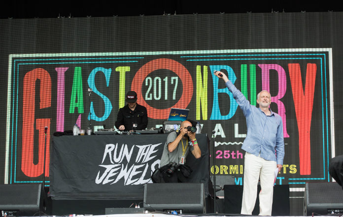 Jeremy Corbyn at Glastonbury 2018