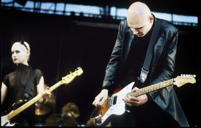 Smashing Pumpkins, Billy Corgan, D'arcy Wretzky, Pinkpop Festival, Landgraaf, Holland, 01/06/1998
