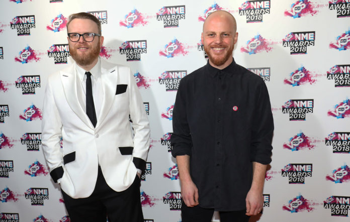 Huw Stephens and NME Editor Mike Williams