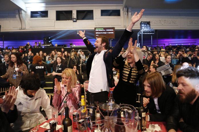 Kasabian, NME Awards, Tables celebrating