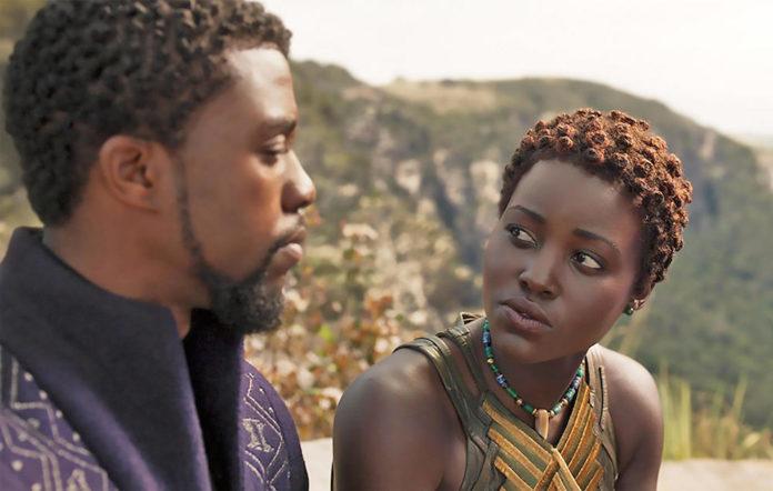 BLACK PANTHER 2018 Marvel Studios film with Lupita Nyong'o and Chadwick Boseman
