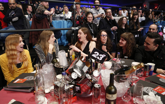 The Big Moon, NME Awards 2018, Tables