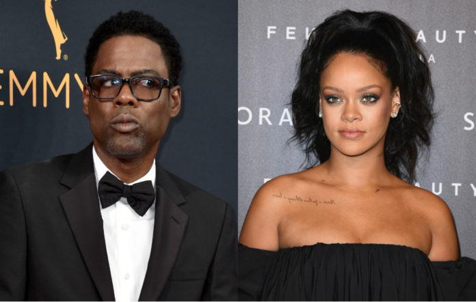 Chris Rock and Rihanna