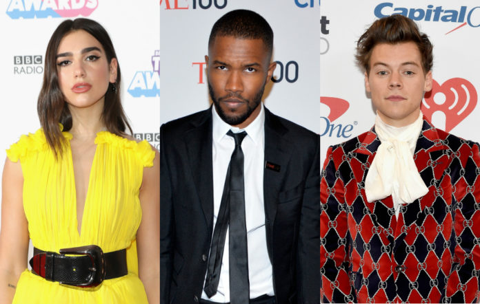 Dua Lipa, Frank Ocean and Harry Styles are all up for awards