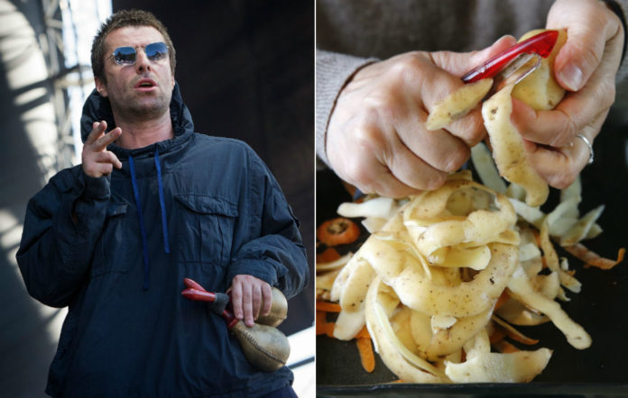 Liam Gallagher and some potato peelings