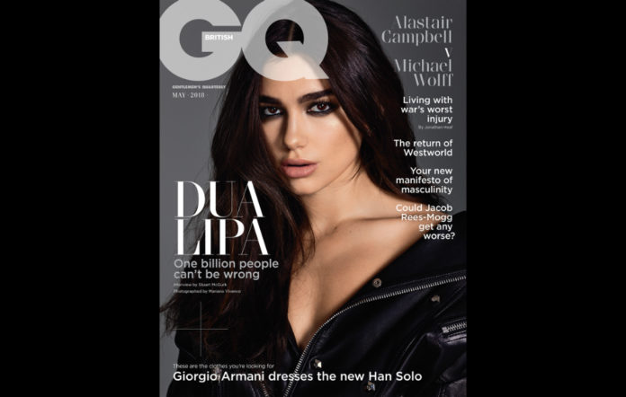 Dua Lipa on the May issue of GQ