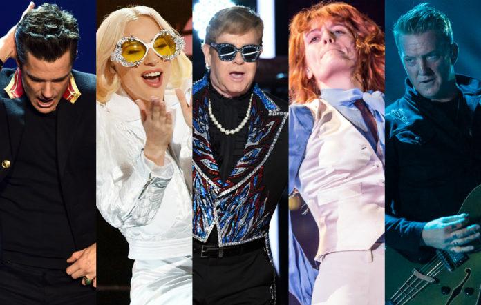 Brandon Flowers, Lady Gaga, Elton John, Florence Welch, Josh Homme