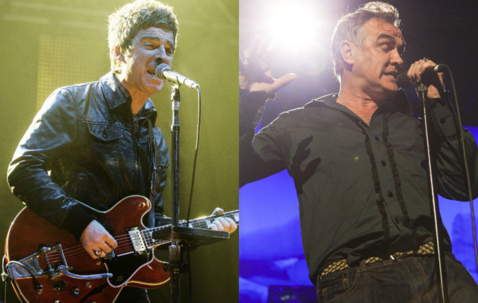 Noel Gallagher and Morrissey