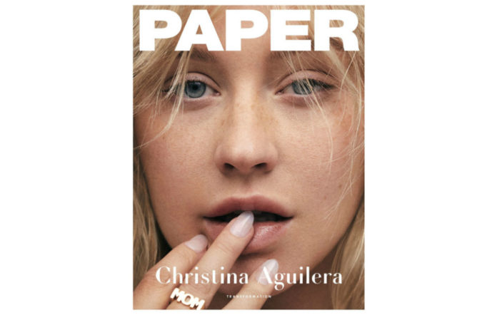 Christina Aguilera on the cover of Paper Magazine