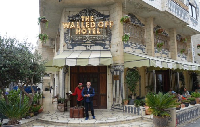 Brian Eno at the Walled Off Hotel, Palestine