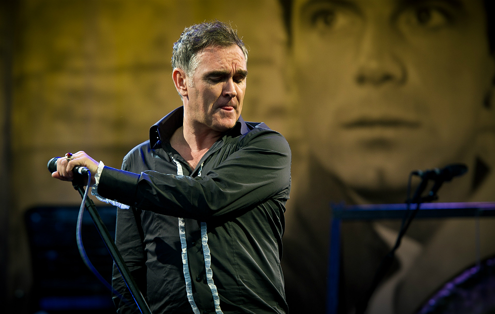 Morrissey performing at Glastonbury Festival