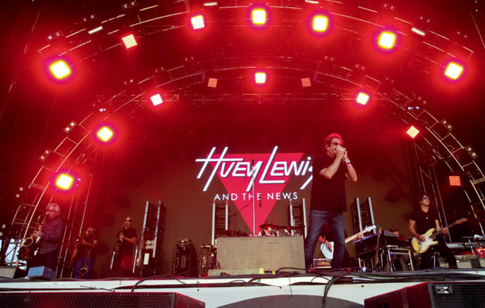 Huey Lewis and the News perform live