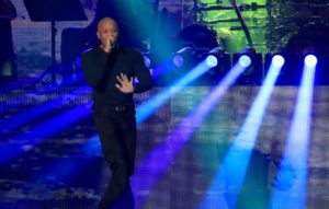 Dr Dre on stage with Eminem at Coachella 2018