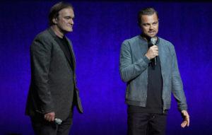 Quentin Tarantino and Leonardo DiCaprio at CinemaCon in Las Vegas on April 23