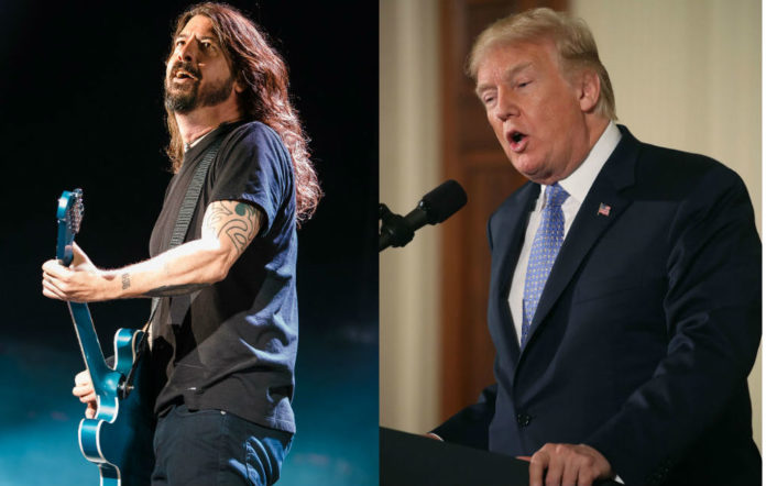 Dave Grohl shares his thoughts on President Trump