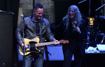 Patti Smith and Bruce Springsteen perform together