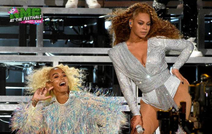 Beyoncé and Solange at weekend two of Coachella 2018