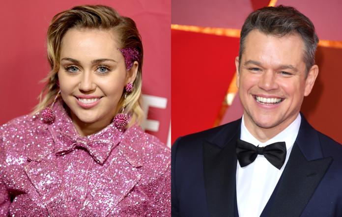 Miley Cyrus + Matt Damon