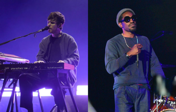 James Blake plays piano for Andre 3000
