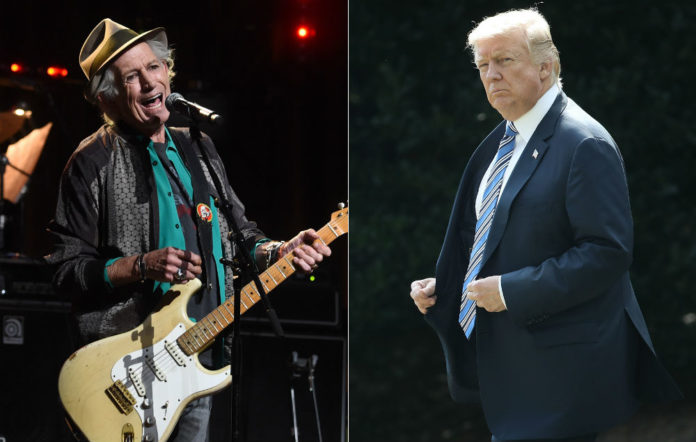 Rolling Stones' Keith Richards and Donald Trump