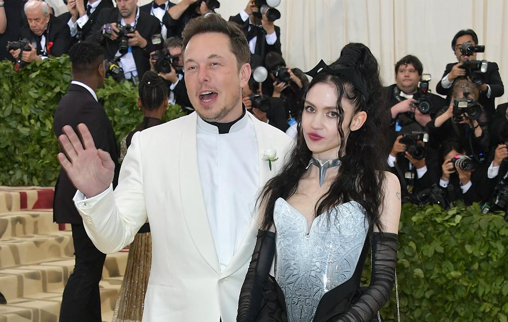 Elon Musk and Grimes attending the 2018 Met Gala