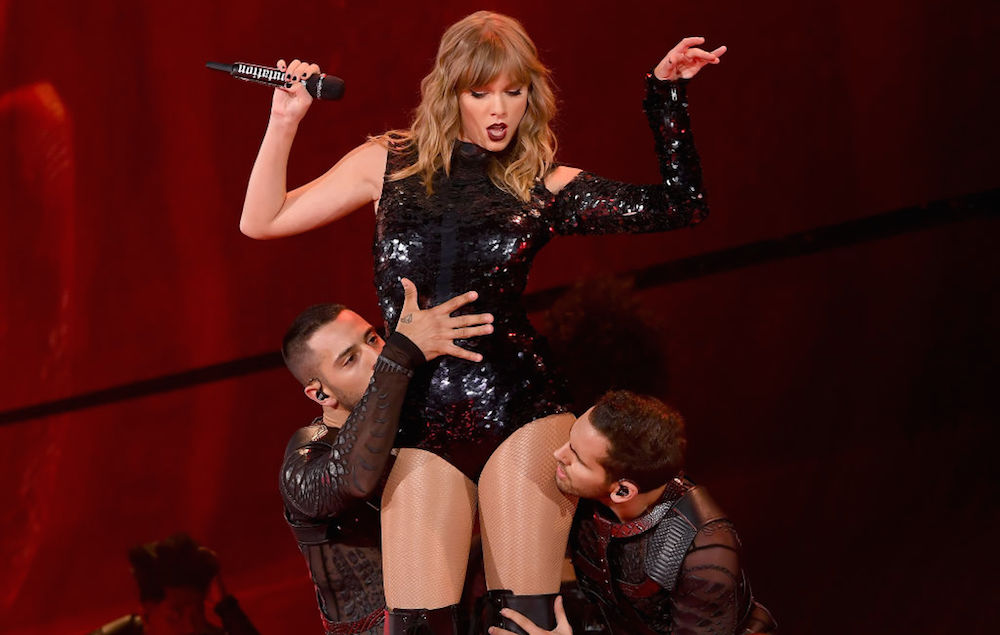 Taylor Swift performs onstage during opening night of her 2018 reputation Stadium Tour at University of Phoenix Stadium on May 8, 2018 in Glendale, Arizona