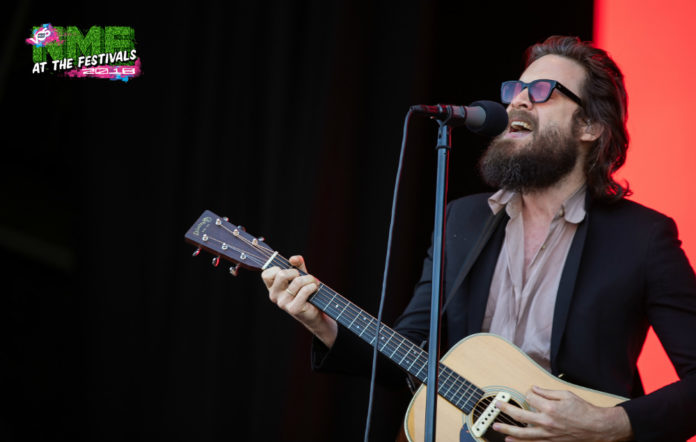 Father John Misty performing at BBC's Biggest Weekend in Belfast on May 25
