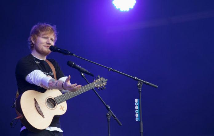 Ed Sheeran performing at Radio 1's Biggest Weekend in Swansea on 26 May