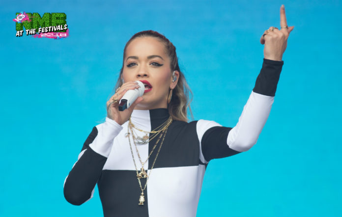 Rita Ora performing at BBC's Biggest Weekend in Swansea today (May 27)