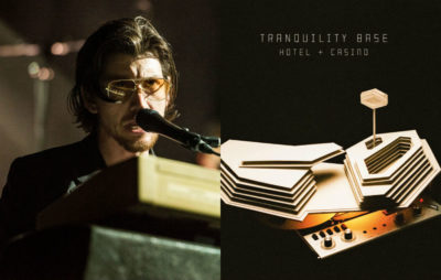 Alex Turner and the artwork for Arctic Monkeys' 'Tranquility Base Hotel & Casino'