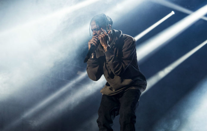 Travis Scott unveils new track live