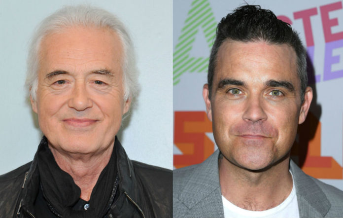 Robbie Williams Jimmy Page neighbour feud