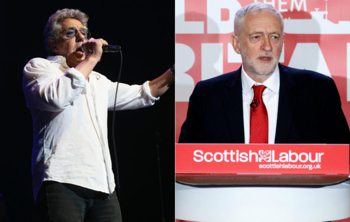The Who, Jeremy Corbyn