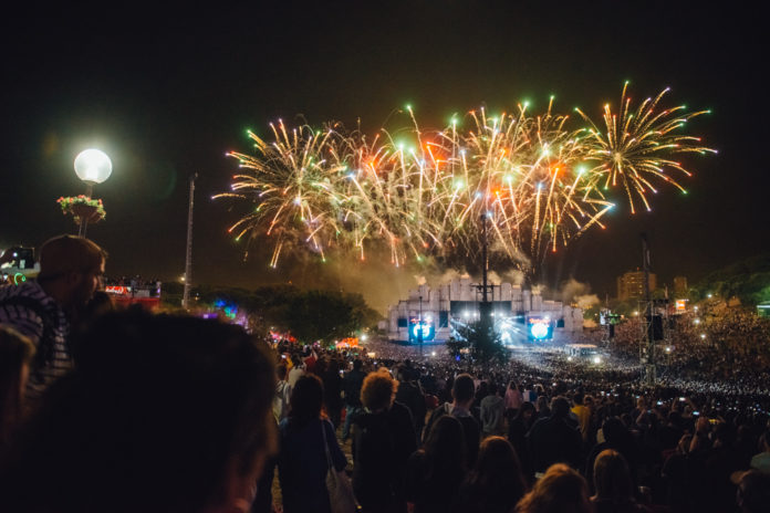 The firework display at Rock In Rio Lisboa
