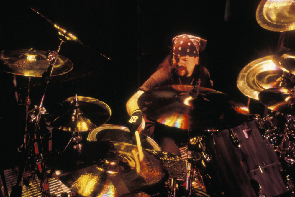 Vinnie Paul playing with Pantera in 1994