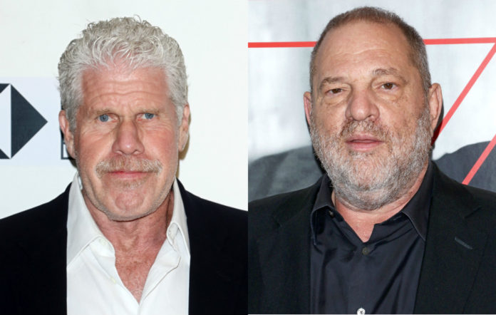 Ron Perlman and Harvey Weinstein