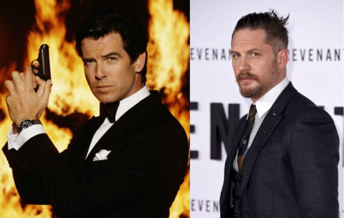 Pierce Brosnan as James Bond / Tom Hardy
